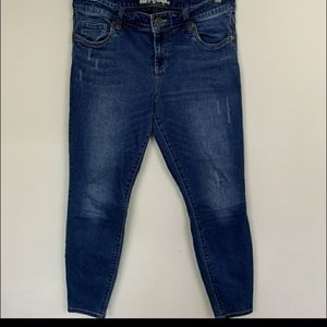 Kut Jean Crop Blue Sz: 10